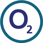 Logo for 02, one of the Mobile Top-Up Networks for Mobile Top-Up & International Calling Card Solutions avaiable from 3R Telecom