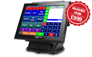 Image of EPoS Solutions being demonstrated on an iCPoS 15 inch Screen