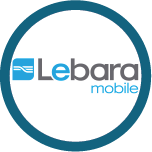 Logo for Lebara Mobile, one of the Mobile Top-Up Networks for Mobile Top-Up & International Calling Card Solutions avaiable from 3R Telecom
