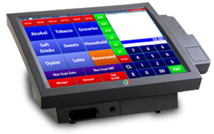 Image of EPoS Solutions being demonstrated on a RobotPos 15 inch Screen