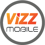 Logo for Vizz Mobile, one of the Mobile Top-Up Networks for Mobile Top-Up & International Calling Card Solutions avaiable from 3R Telecom