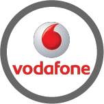 Logo for Vodafone, one of the Mobile Top-Up Networks for Mobile Top-Up & International Calling Card Solutions avaiable from 3R Telecom